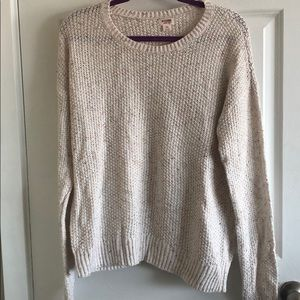 Speckled cream color sweater